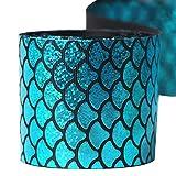 SUPVOX 1 rollo de lentejuelas sirena escamas cinta para bricolaje artesanía pinza para el pelo clip de sirena bolsas de regalo relleno bajo el mar fiesta favor (azul)