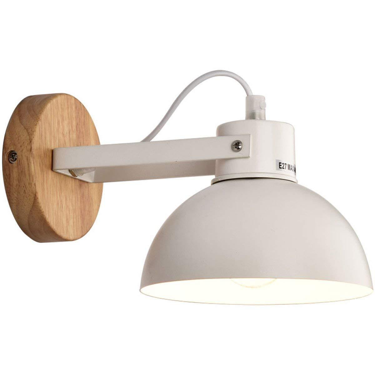 BXJ クリエイティブシンプルなウォールランプモダンウッドウォールランプE27光源 (Color : A) B07R8LFP77 A