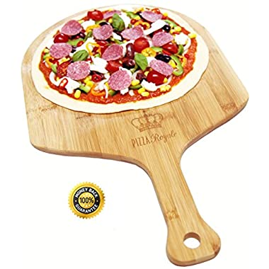 Pizza Royale Ethically Sourced Natural Bamboo Pizza Peel, 19.6 inch x 12 inch
