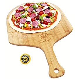 Pizza royale ethically sourced premium natural bamboo pizza peel, 19. 6 inch x 12 inch 1 autumn sale for limited time! Multi-purpose; the possibilities for this product don't just end with pizzas. Use it for placing and removing bread and other baking goods to and from the oven. Use it as a bread, cheese and cutting board - not to mention it's perfect to use as a serving block. It's extremely practical for everyday use. Easy grip handle; our large size paddle is 19. 6 x 12 inch. It's sturdy but not too heavy to hold even when topped with your homemade or shop bought pizza. It's made even easier with the handle's contoured design. It makes food preparation and baking fun and simple. No splitting, warping or cracking; when cared for properly, pizza royale's bamboo pizza peel will not split, warp or splinter. Your hands are the only ones you've got... Don't get splinters in them by buying cheaply produced peels. Easy cleaning - just hand wash with warm water.