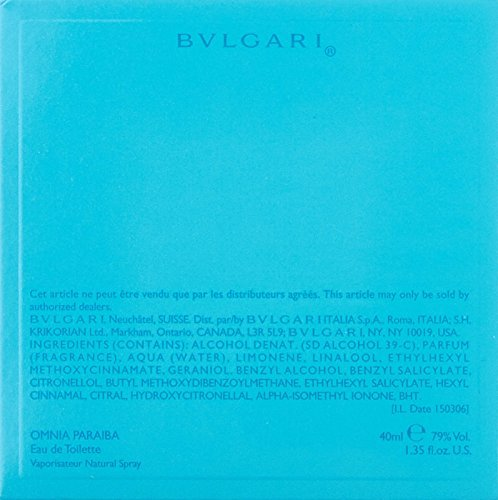 Bvlgari Omnia Paraiba Bvlgari EDT Spray Women 1.35 oz (Pack of 3)