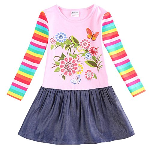 The Most Popular Girls In School Costume (Novatx Embroidered Cotton Long Sleeve Baby Girl Dress H5803 Pink (2/3y))