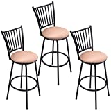 WATERJOY Barstool, Set of 3 Modern Swivel Bar Stool Counter Height Chair Bistro Pub Breakfast Kitchen Stools Chair For Sale