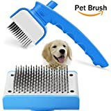 Leap-ss Pet Comb Self Cleaning Pet Brush for Dogs & Cats