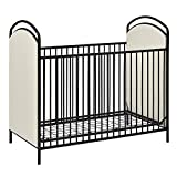 Ikea Baby Cribs with Changing Table Little Seeds Rowan Valley Lotus Upholstered Metal Crib, Black