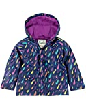 OAKI Children's Rain Jacket, Colorful Raindrops 3T Toddler