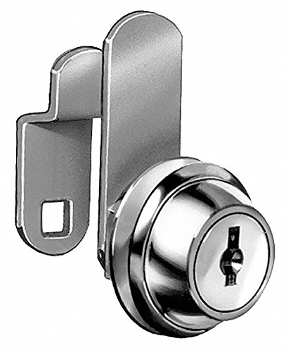 Different-Keyed Standard Keyed Cam Lock, For Door Thickness (In.): 1/8, Bright Brass by COMPX NATIONAL