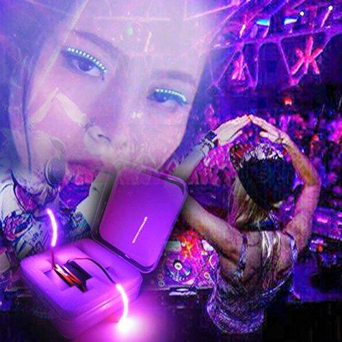 Club Curls Wig (Nesee Fashion Icon Saloon Pub Club Bar Party LED Music Control Eyelid Eyelashes (Gold))