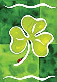 Toland Home Garden Shamrock and Friend 28 x 40 Inch Decorative St Patrick's Day Clover Ladybug House Flag For Sale