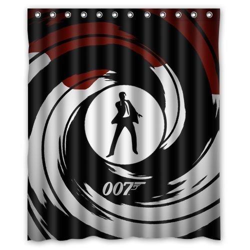 Custom James Bond Personalized Shower Curtain 60x72 Inch