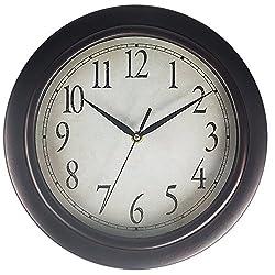 Benail 12 Inch Round Retro Wall Clock Classic Non Ticking Quartz Decorative Wall Clock