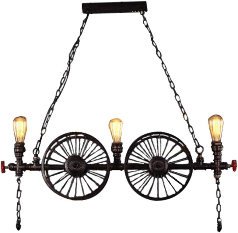 Industrial Edison Bombillas Tubos De Agua Colgante De Luz Araña Rústico Colgante Accesorio De Iluminación Con Válvula
