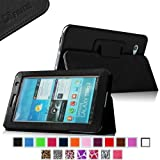 Fintie Slim Fit Folio Case Cover for Samsung Galaxy Tab 7.0 Plus / Samsung Galaxy Tab 2 7.0 Tablet - Black