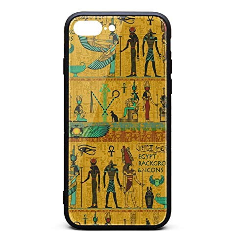 Nisen Egyptian Anubis iPhone Case for iPhone 7/8 Plus Design for Girls Men Women TPU Frame Protective for Men Women Cover Shockproof Bumper Anti-Drop PC Frame for 5.5