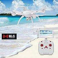 AMA(TM) LiDiRC L15W 4CH HD Camera WiFi FPV 2.4G 6-axis Gyro RC Quadcopter Altitude Hold (White 1)