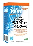 Doctor's Best SAMe 400 mg (Double Strength), Enteric Coated Tablets, 30-Count