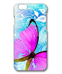 """Lilyshouse Pink Butterfly Hard Protective 3D Cover Case for Iphone 6(4.7"""") by ruishername"""