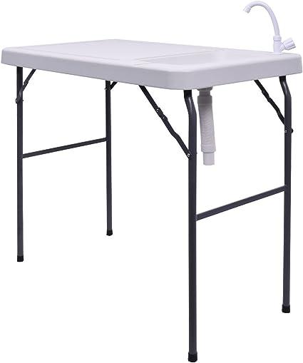 GOPLUS Table de Camping Pliante Table Portative Id/éal pour Camping et Randonn/ée Table en Alliage dAluminium Table de Camping Polyvalent avec Sac /à Main
