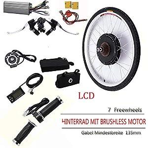 "51ENPXhB3OL. SS300 26"" 36V/ 48V 250W/ 500W/ 800W/ 1000W Kit di Conversione Motore Bici Elettrica Ruota Posteriore E-Bike Mozzo Ruota Posteriore Kit Motore Bici Elettrica con LCD"