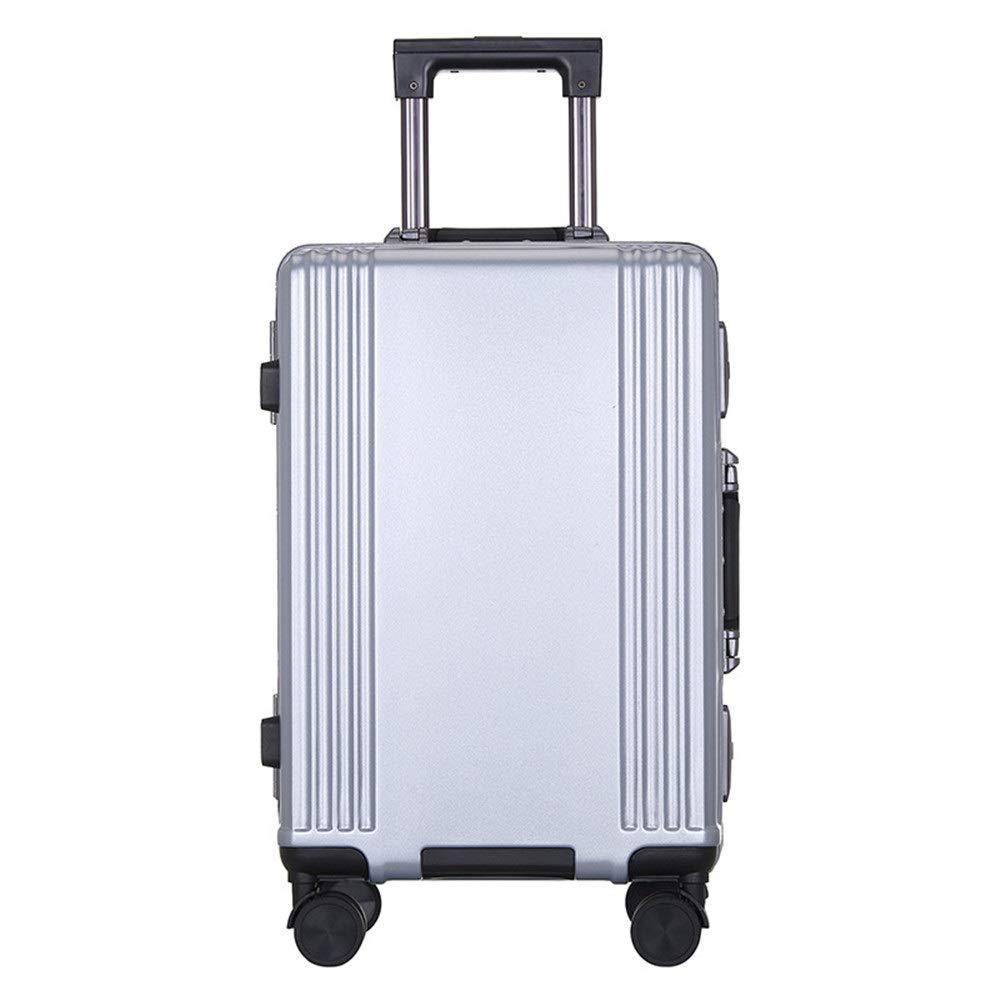 スーツケース TSAロックシェルハードシェルトラベルリースーツケースライトポータブルベルトコラムサイレントローテーター多方向航空機付きワンピース荷物 圧縮服スーツケース (色 : 銀, サイズ : 20inches) B07SZTC7G8 銀 20inches