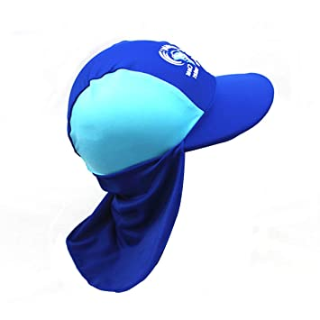 1a91582dfdc Motige UV Protection Kids Baby Sun Hats Summer Swim Hat Long Flap Quick  Drying Foldable Breathable