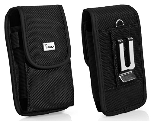Heavy Duty Vertical Rugged Case For Huawei P8max Ascend Mate 2 4G MT2-L03 Ascend Mate MT1-U06 Nylon Cell Phone Case / Pouch / Holster with Belt Loop, Metal Belt Clip, & Velcro Closure