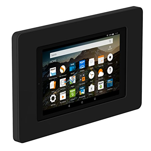 VidaMount On-Wall Tablet Mount - Amazon Fire HD8 7th Gen - Black (2017) by VidaMount