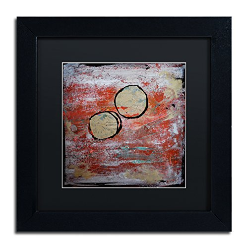 "picture of Trademark Fine Art The Host Framed Artwork by Nicole Dietz, 11 by 11"", Black Matte/Black Frame"