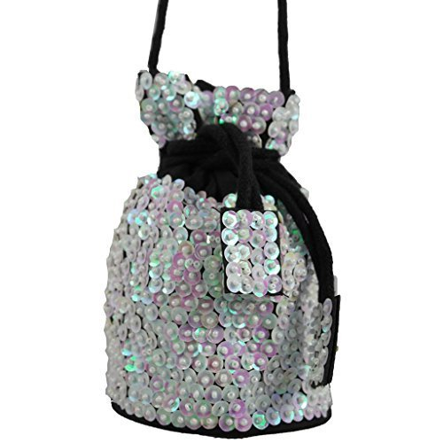 Fabulous White Party Dolly Cross Bag Bag Sequin Body Encrusted Dainty qwABCZ