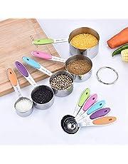 Magnetic Measuring Spoons Set Stainless Steel Spoons Fits in Spice Jars Set of 8 is Oil, Salt, Sauce and Vinegar Measuring Tool