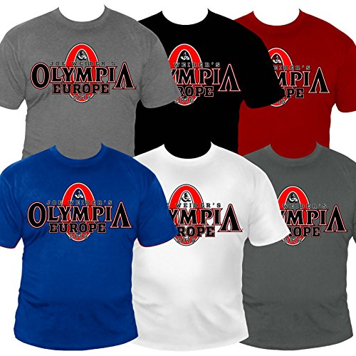 MRO1 Mr. Olympia Herren T-Shirt L Weiss