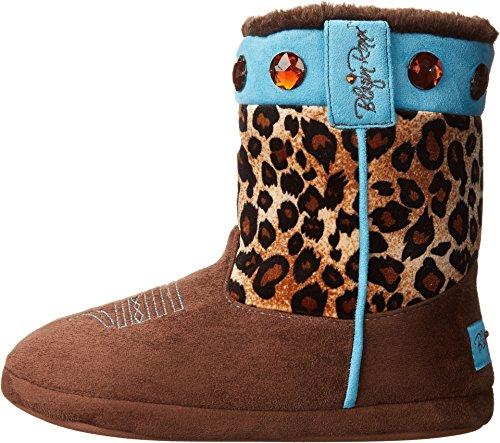 Blazin Print Microfiber Leopard Brown Slippers Boot Women's Roxx OqOrfp