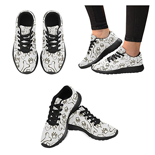 Interestprint Womens Väg Löparskor Jogging Lätta Sport Gå Atletisk Sneakers Ben Och Hundtass
