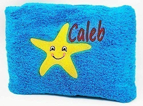 Personalized Beach Towel With Embroidered Name and Design (Towels Beach Embroidered)