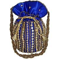 INDIAN MEGA MART Stunning Handmade Bollywood Style Potli Bag for Women & Girls – Enhance your Style Statement