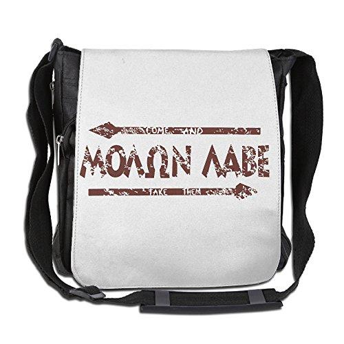 [Amurder Custom Molon Labe Arrow Cross Body Bag Pack Messenger Bags Black] (King Leonidas Costumes)