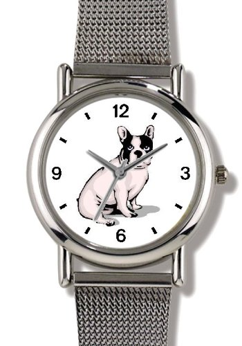 Boston Terrier Dog - WATCHBUDDY ELITE Chrome-Plated Metal...