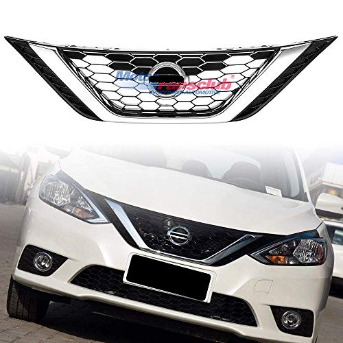 MOTORFANSCLUB Upper Insert Front Grill Fit for Nissan Altima 2016-2017 Front Bumper Center Mesh Grill Grid Grille