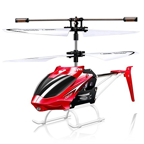Syma W25 RC Helicopter 2 CH 2 Channel Mini RC Drone with Gyro Crash Resistant RC Toys for Boy Kids Gift Red.Atomic