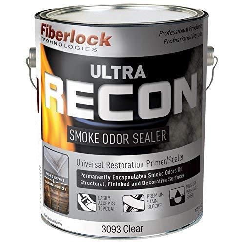 Ultra Recon Smoke Odor Remover & Stain Blocker - 1 Gallon with Odor Lock Plus Technology - Eliminates Cigarette Odor and Blocks Tough Staining by Fiberlock