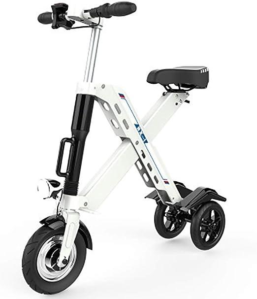 QYSHH Bicicleta Eléctrica Plegable, Scooter Eléctrico, Mini ...