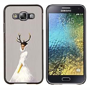 LECELL--Funda protectora / Cubierta / Piel For Samsung Galaxy E5 E500 -- Cuernos de la bailarina --
