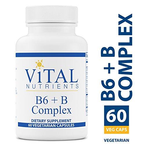 B-complex Vital Vitamins - Vital Nutrients - B6 + B-Complex - Balanced B Vitamin Formula With Extra B6-60 Capsules