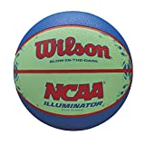 Wilson NCAA Illuminator Glow in The Dark Basketball, 28.5'' Blue/Yellow