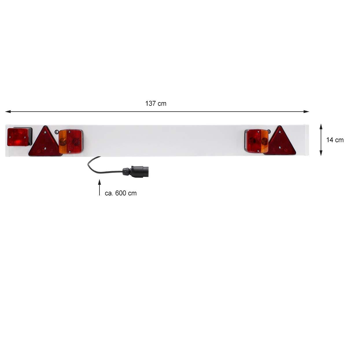 ECD Germany Barras de iluminación para Remolque Conexión con 7 Pines Listo para conectar 12 V Luces traseras para Remolque: Amazon.es: Coche y moto