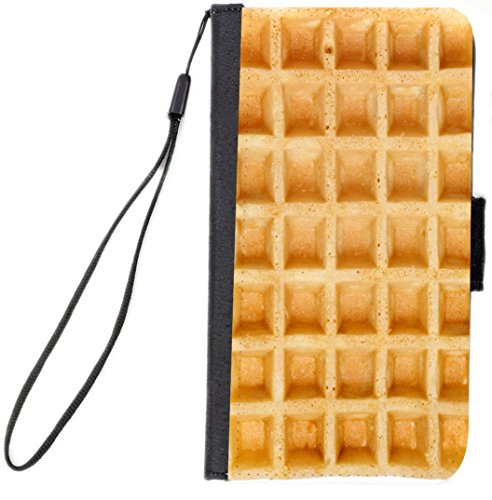 - Rikki Knight Gold Brown Waffle Flip Case For iPhone 6 Plus/6s Plus - Non-Retail Packaging - Black