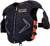 HMK Men's Protective Vest (Black/Orange, X-Large)