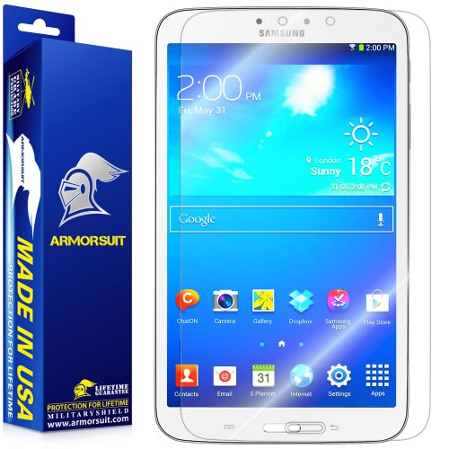 ArmorSuit MilitaryShield - Samsung Galaxy Tab 3 8.0 Tablet Screen Protector - Anti-Bubble Ultra HD Shield w/ Lifetime Replacements