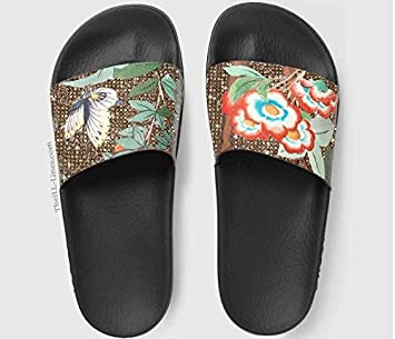 Gg Supreme Tian Canvas Gucci Women S Slide Sandals Canada