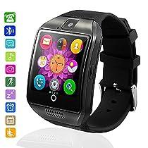 Bluetooth Smartwatch Impermeabile, AxCella 2018 Nuovo Smartwatch Supporto SIM / TF Card Orologio Intelligente con Pedometro Sleeping Monitor Facebook Whatsapp Smartwatch per Android Smartphones